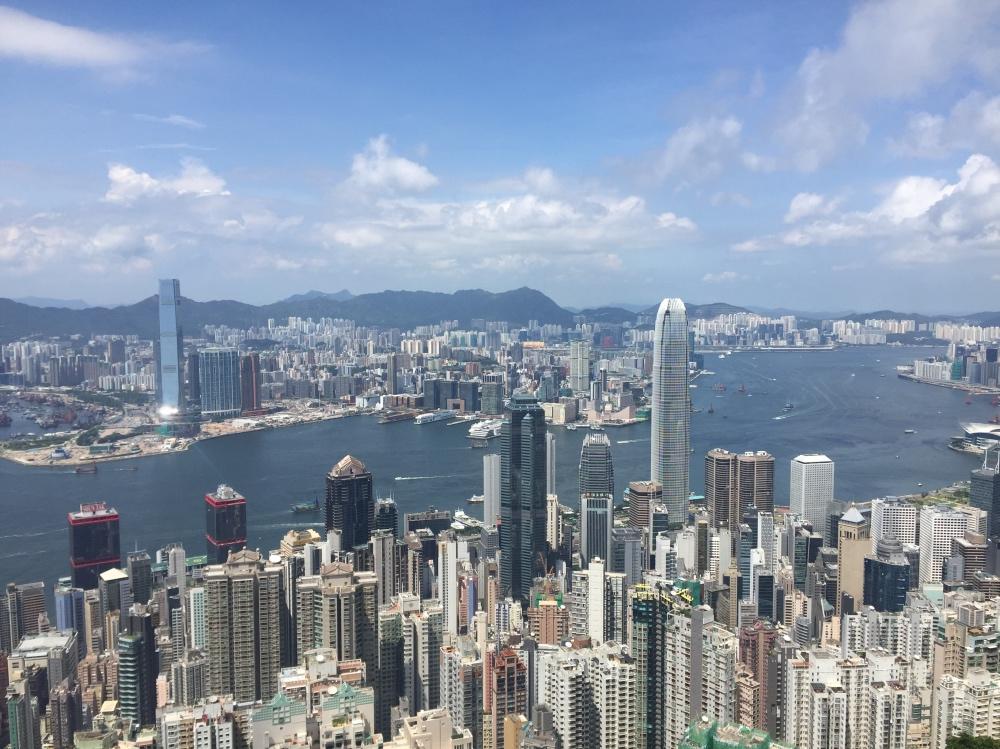 uitzicht Peak over Hongkong