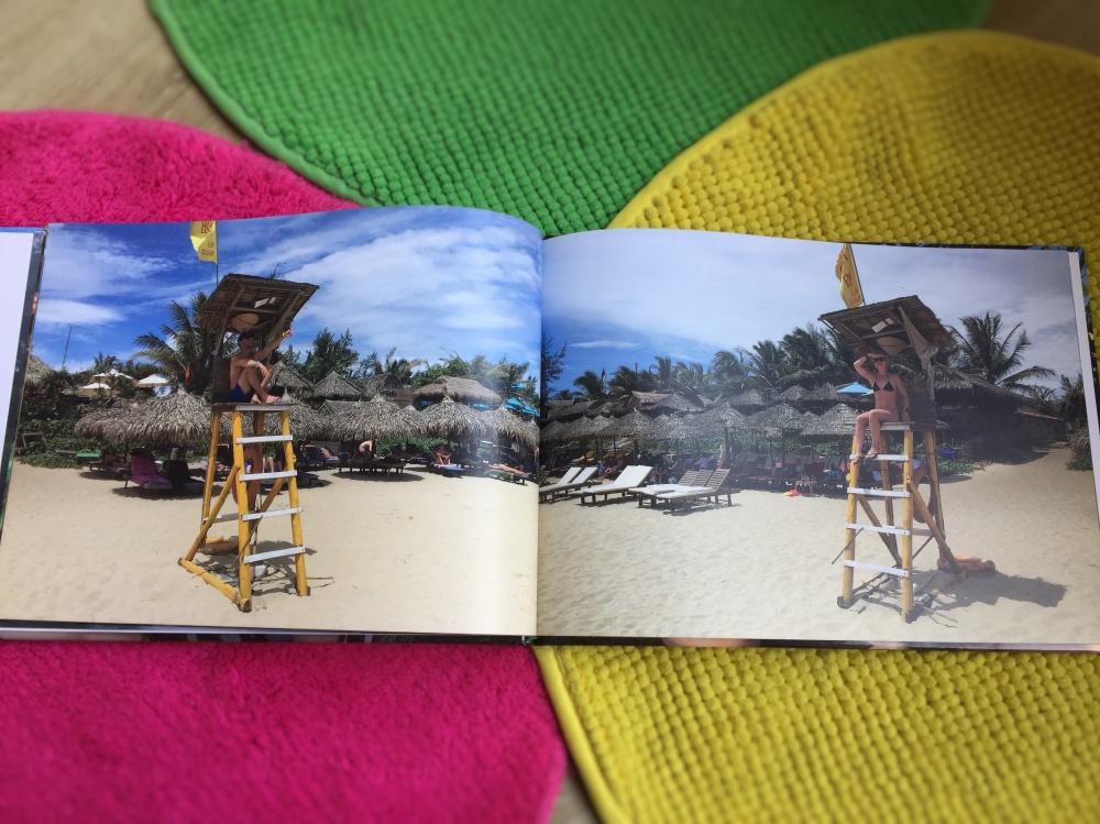 after-zomer dip fotoboek Vietnam op het strand