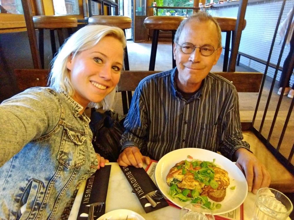 lunch met papa bij Bukowski Amsterdam