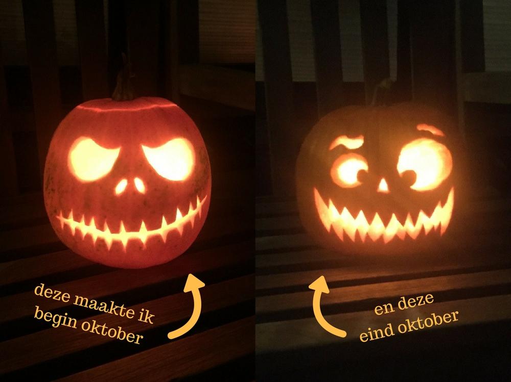 Halloween pompoen creativiteit