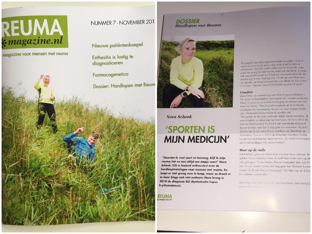 Op de cover van ReumaMagazine