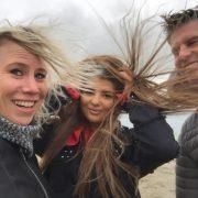 het waaide in Wijk aan Zee