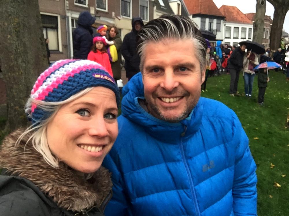Nora en Jur bij Sinterklaas in Weesp