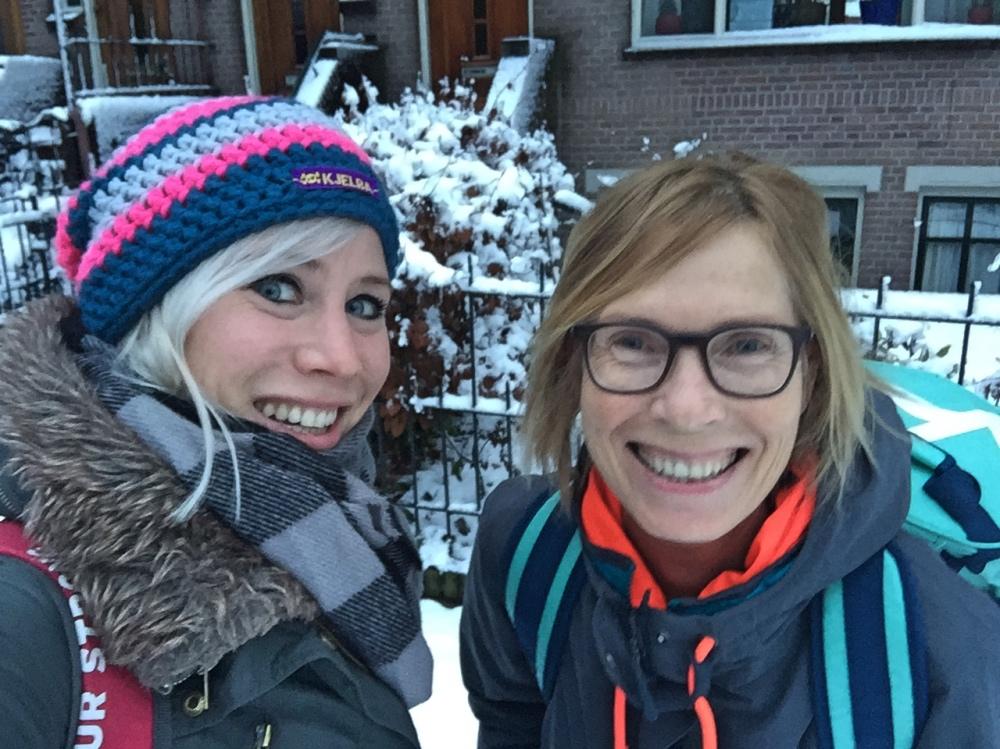 Arnhem met sneeuw