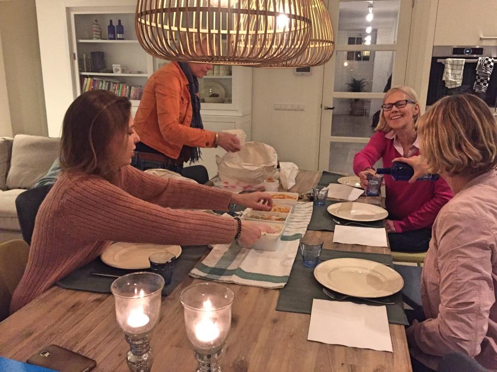 chinees eten met collega's