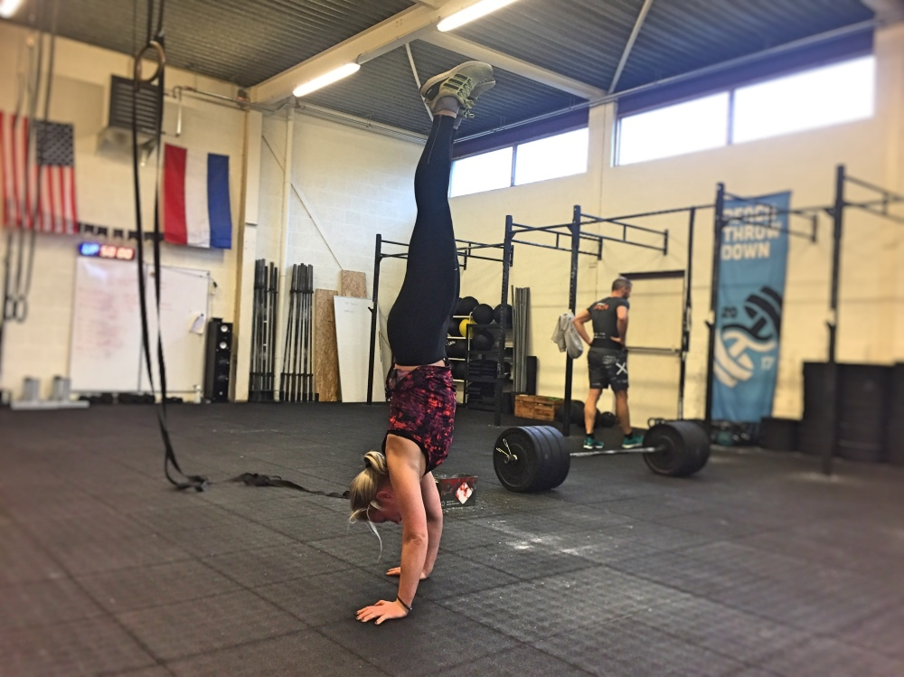 handstand bij CrossFit