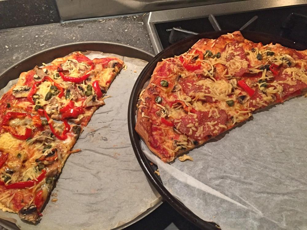 pizza's op maandag