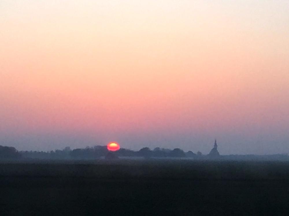 zonsondergang op Texel