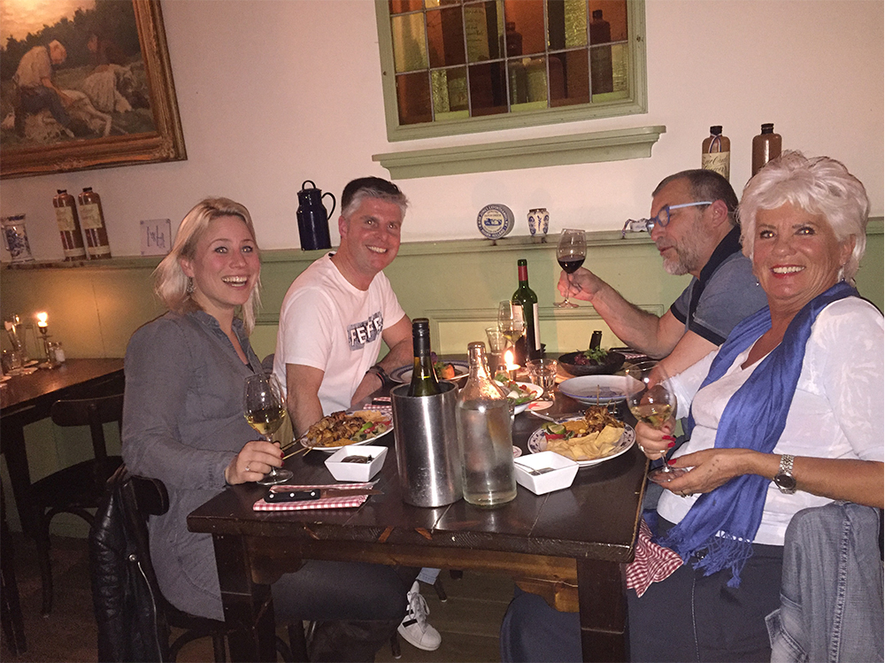 eten bij Aaltje met Ruud en Anita