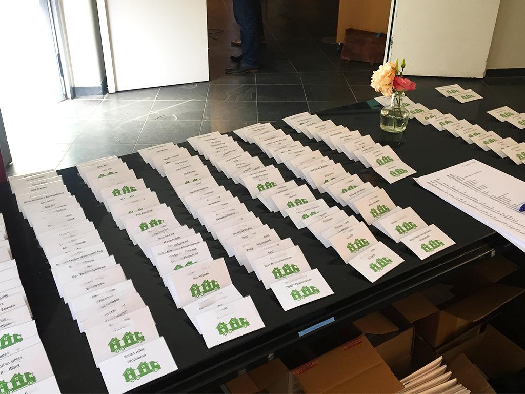 naamkaartjes congres