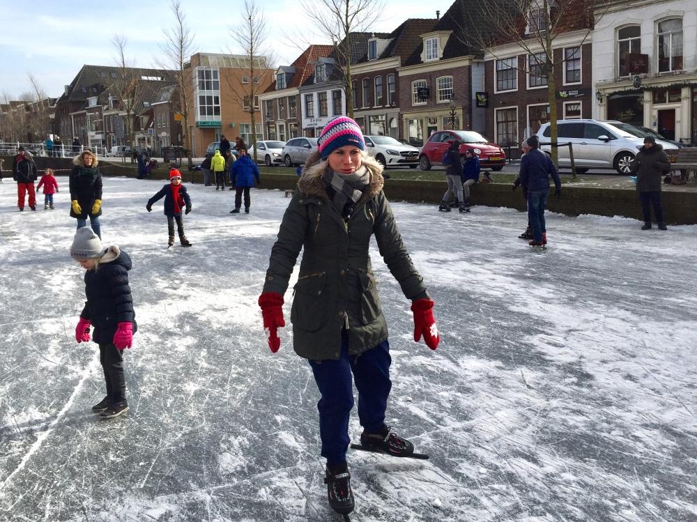 schaatsen op de oudegracht