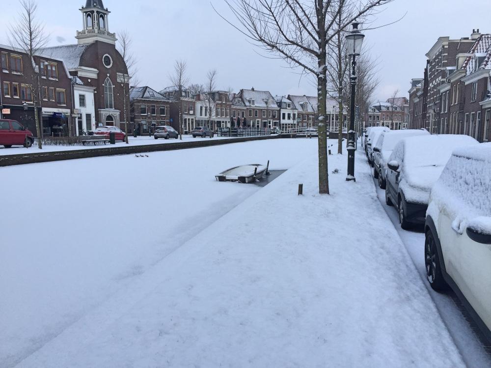 woensdag lag er ineens sneeuw