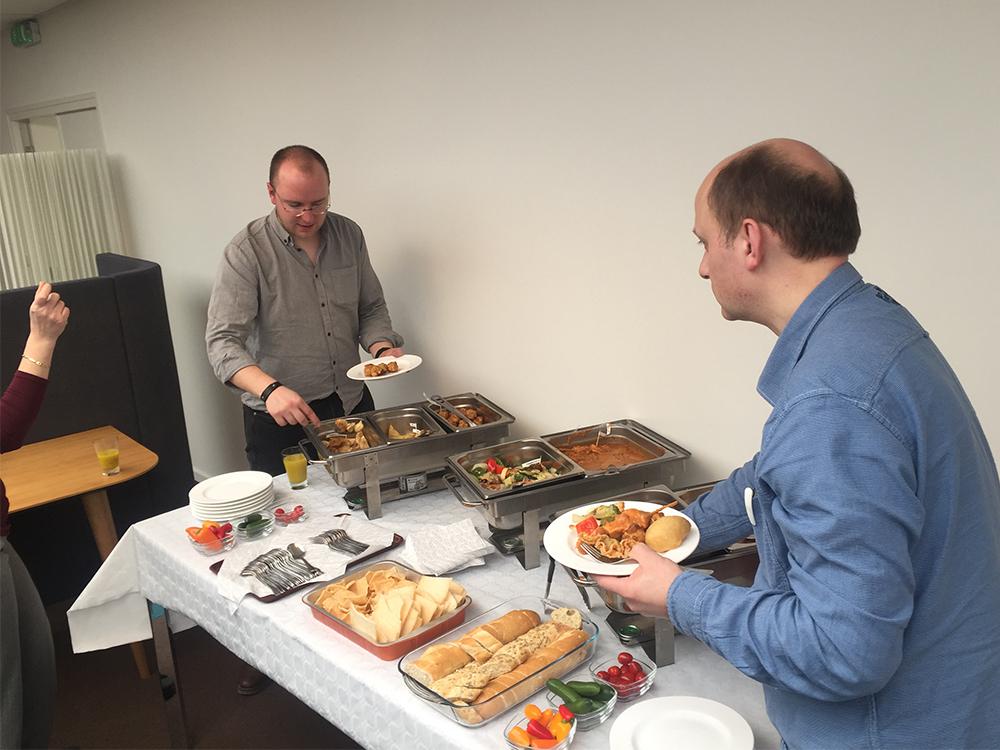 mannen uit litouwen en chinese lunch. Alle deadlines gehaald.