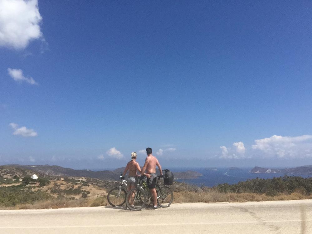 fietstocht naar Empourios