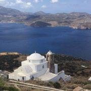 uitzicht over de baai in Milos