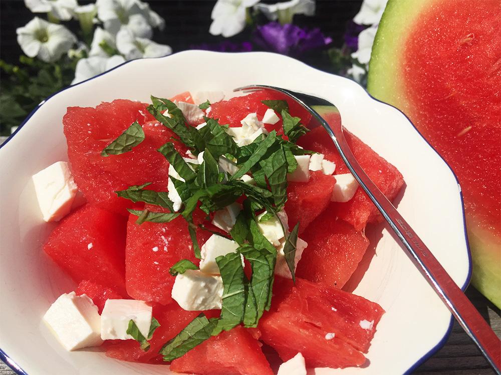 watermeloen salade BBQ