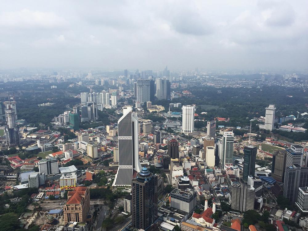Uitzicht vanaf KL tower