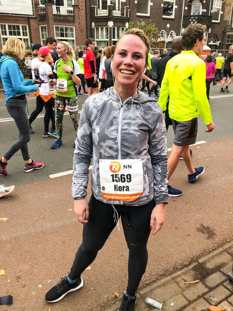 Nora na de finish zevenheuvelenloop