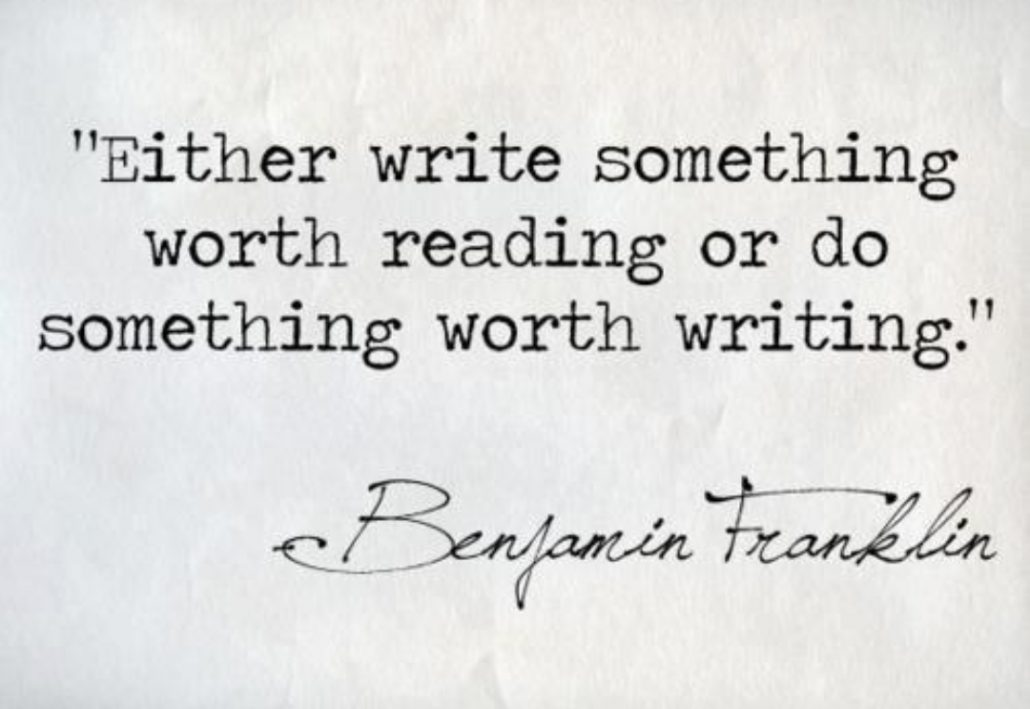 write something worth reading