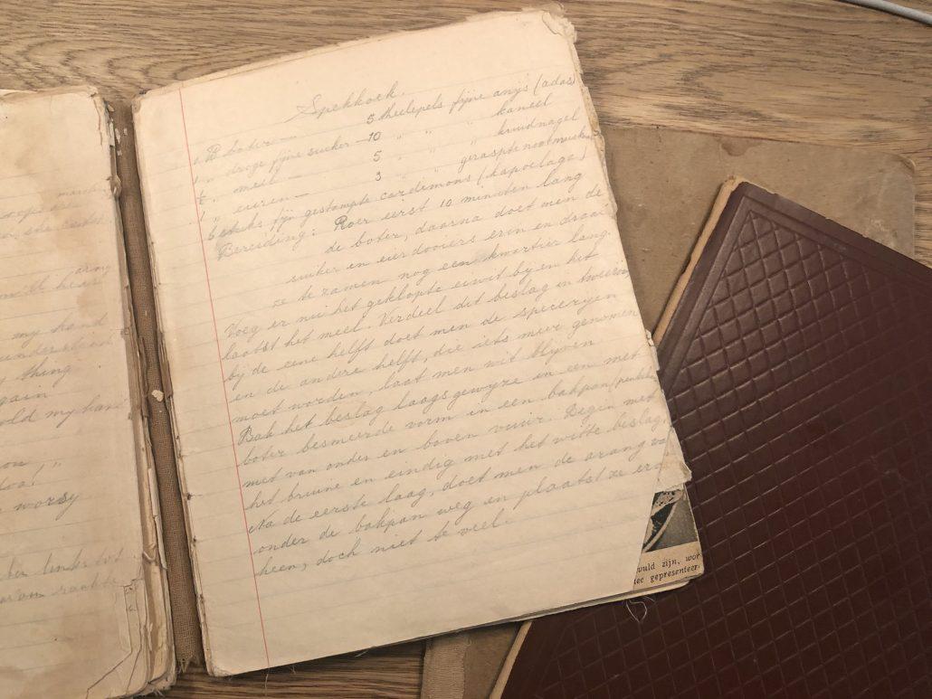 receptenboekje uit het Jappenkamp