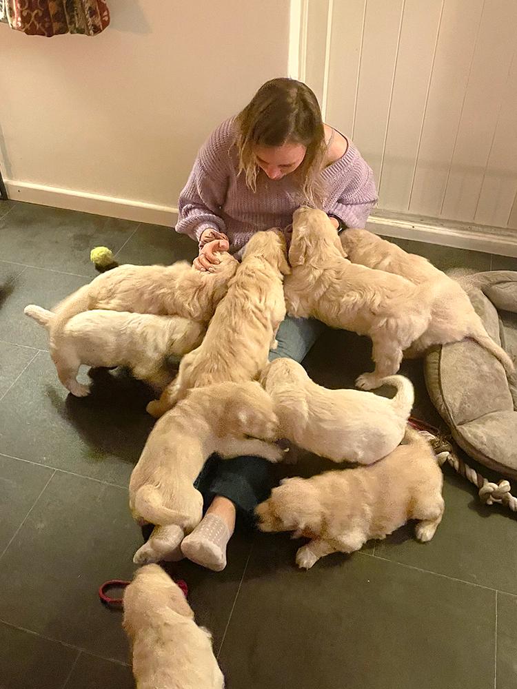 Mollie en haar broers en zussen